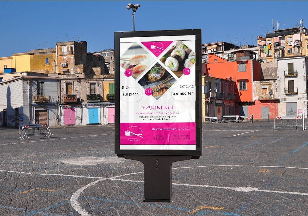 panneau publicitaire Napoli sushis